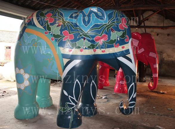 大象-涂鸦-【卡奈艺术】绍兴墙绘|嘉兴3d立体画|台州
