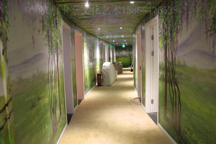 情侣酒店走廊-工装彩绘-【卡奈艺术】绍兴墙绘|嘉兴3d